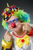 забавный клоун в юмора концепции — Стоковое фото