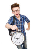 Student missing his studying deadlines — Stock Photo