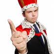 King pointing his fingers — Stock Photo