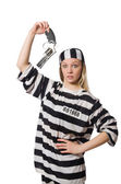 Prison inmate with gun — Stock Photo