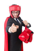Young businessman boxer — Stock Photo