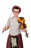 Funny Scotsman with violin — 图库照片