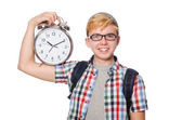 Student with clock — Stock Photo