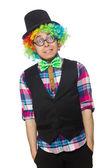 Clown auf dem weißen hintergrund — Stockfoto