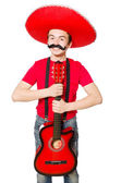 Mexican guitar player — Stock Photo