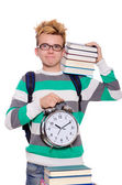 Student missing his deadlines — Stock Photo