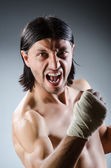 Ripped martial arts expert — Foto Stock