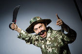 Funny soldier — Stock Photo