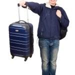 Постер, плакат: Man with luggage