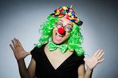 Zabawny clown — Zdjęcie stockowe