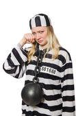 Funny prison inmate — Stock Photo