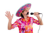 Funny mexican singer — Stock Photo