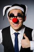 Clown businessman — 图库照片