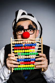 Clown with abacus — Stock Photo