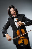 Man violin player in musican concept — Foto Stock