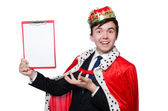 King businessman in funny concept — Stock Photo