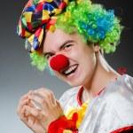 Постер, плакат: Funny clown in humor concept