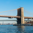 Brooklyn bridge in New York on bright summer day — Stock Photo #50886925