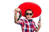 Funny mexican with sombrero hat — Photo