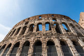 Famous colosseum on bright summer day — Stock Photo