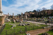Ancient Rome ruines on bright summer day — Stock Photo