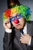 Clown businessman in funny concept — Stock fotografie