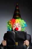 Clown businessman in funny concept — Foto Stock