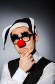 Clown geschäftsmann in lustigen konzept — Stockfoto