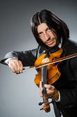 Man violin player in musican concept — Foto Stock