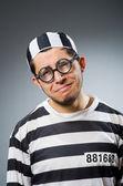 Funny prison inmate in concept — Stockfoto