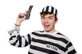Funny prison inmate in concept — 图库照片