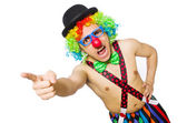 Funny clown isolated on the white background — Stock Photo
