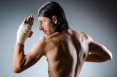 Ripped martial arts expert at training — Foto Stock