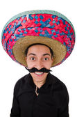 Funny mexican with sombrero hat — Stock Photo