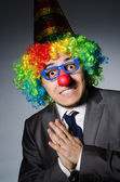 Clown businessman in funny concept — Stock Photo