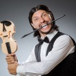 Funny fiddle violin player in musical concept — Stock Photo #51327669