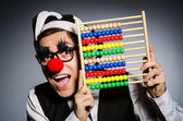 Funny clown with abacus in accounting concept — Стоковое фото