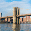 Brooklyn bridge in New York on bright summer day — Stock Photo #51714203
