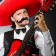 Mexican man with guitar isolated on white — Stock Photo #51718025