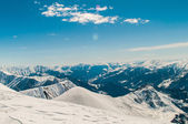 Snow mountains on bright winter day — Stock Photo