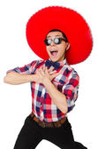 Drôle mexicain avec sombrero dans concept — Photo