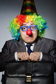 Clown businessman in funny concept — Стоковое фото