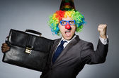 Clown businessman in funny concept — Foto de Stock