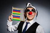 Funny clown with abacus in accounting concept — Foto de Stock