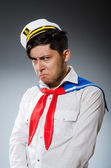 Funny captain sailor wearing hat — Photo