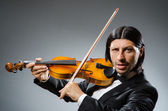 Man violin player in musican concept — Стоковое фото