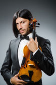 Man violin player in musican concept — 图库照片