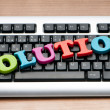 Solution concept with keyboard — Stock Photo #5870530