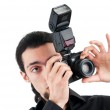 Photographer with the digital camera — Stock Photo #6610262