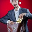 Businessman celebrating christmas holidays — Stock Photo #7968640